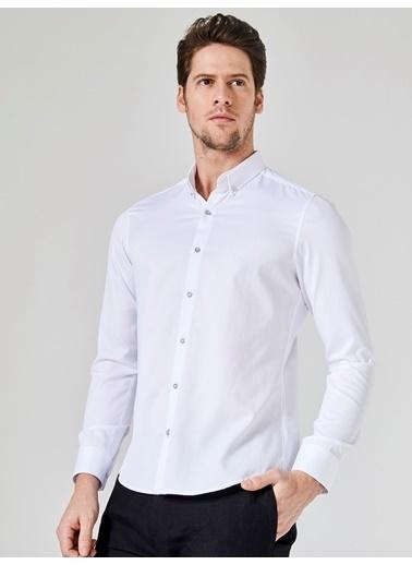 Xint Uzun Kollu Gömlek Beyaz
